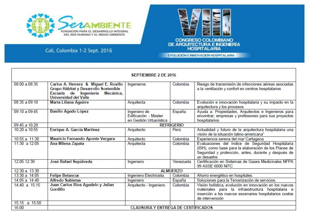 PROGRAMACION VIII CONGRESO.