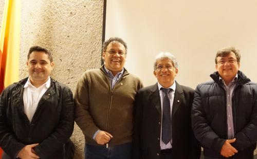 Arq. Augusto Ballén Rey, Arq. Walter Martínez Morales, Arq. Alfredo Reyes Rojas y Arq. Flavio Romero